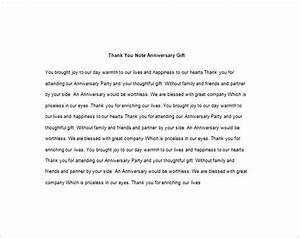 Thank You Note For Gift  U2013 9  Free Word  Excel  Pdf Format