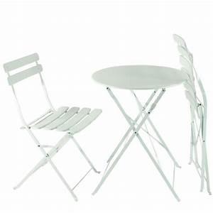Gartenmöbel Weiß Metall : balkon gartenm bel bistro set klappbar metall wei ~ Frokenaadalensverden.com Haus und Dekorationen