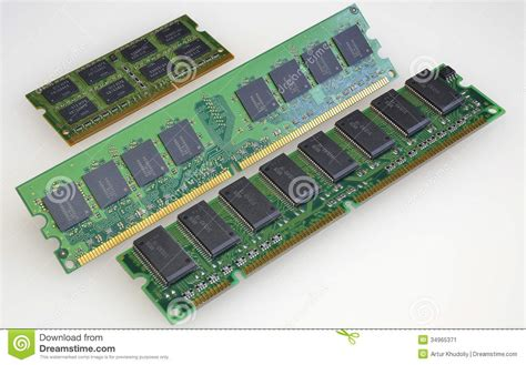 Module Of Main Memory Stock Image  Image 34965371