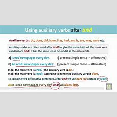Grammar ( 2 )  Ch 8  L7  Using Auxiliary Verbs After