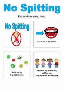 No Spitting Social Story Flip Book by Thinking Tree ...