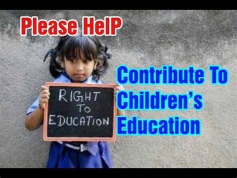 contribute education  children  poor
