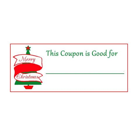 best photos of printable christmas coupon book template