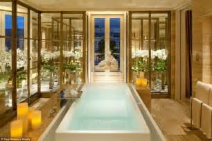 Infinity Edge Bathtub the world s most luxurious hotel bathrooms revealed