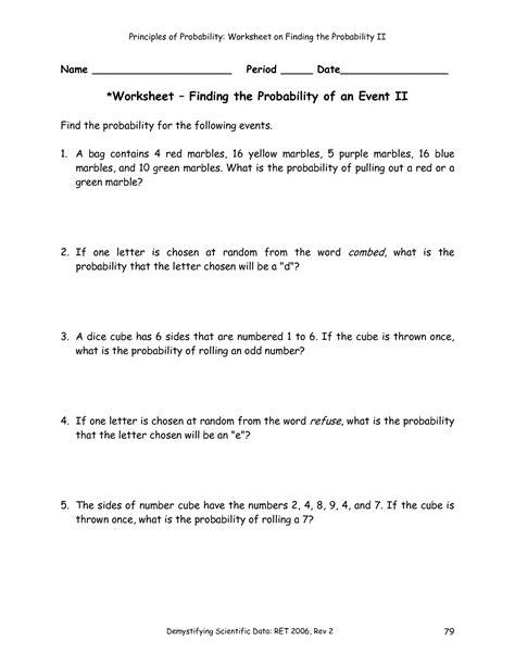 31 Sum Of Two Dice Probability Worksheet Answers