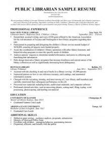 resume objective for librarian librarian resume sle writing guide