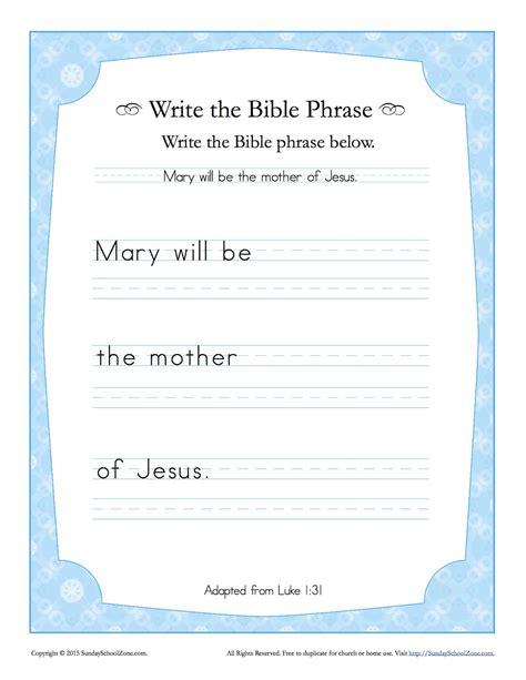 luke  write  bible phrase worksheet childrens bible activities sunday school