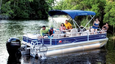 Tracker Pontoon Boats by Sun Tracker Boats 2016 Fishing Pontoon Boats