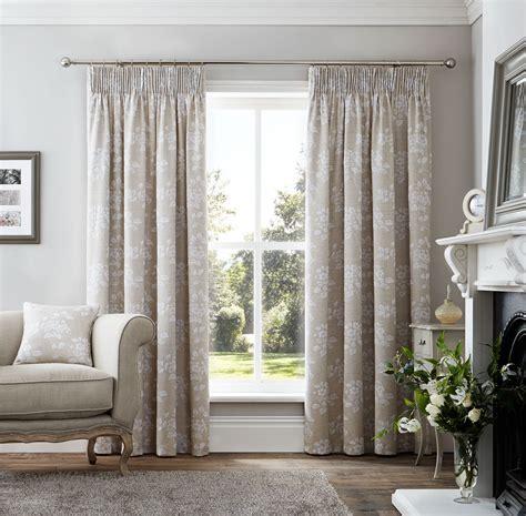 beige linen curtains floral linen effect beige white pencil pleat curtains 7