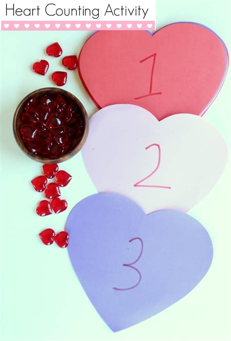 heart counting activity  preschoolers   takes