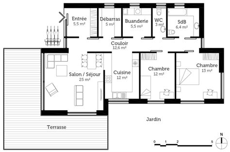 plan maison 6 chambres awesome plan maison plain pied passive contemporary