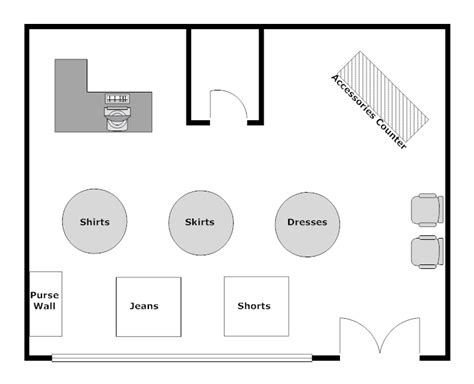 kitchen design templates clothing store layout