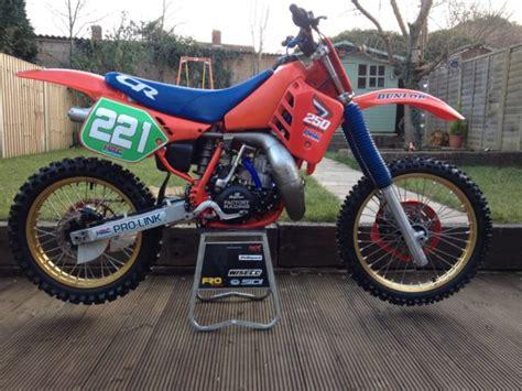 evo motocross bikes honda cr 250 1987 evo motocross bike 125 500 twinshock super