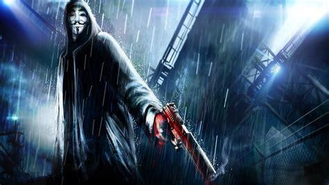 V For Vendetta Home Decor : Anonymous Artwork Futuristic Guy Fawkes Hooded Masks