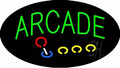 Neon Sign Arcade Signs Games Flashing