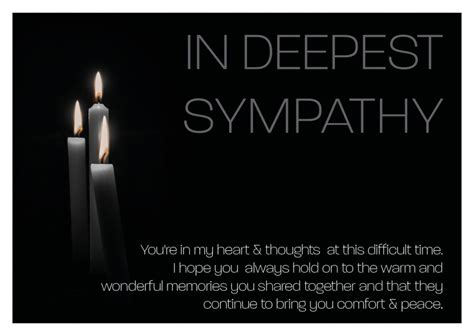 deepest sympathy condolence cards send real