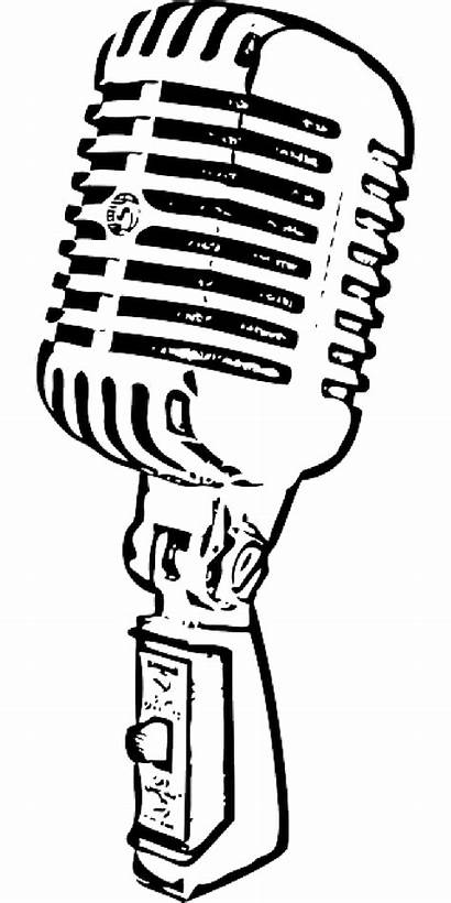 Microphone Mic Radio Clipart Vector Station Antique