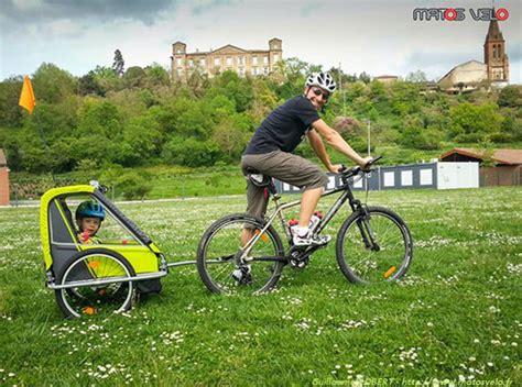 siege bebe velo comment rouler avec une remorque vélo enfants matos