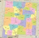 Detailed Political Map of New Mexico - Ezilon Maps