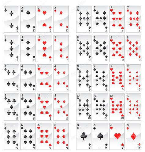 poker cards stock vector