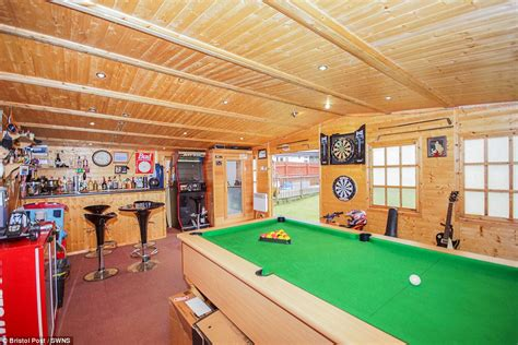how big is a bar pool table mangotsfield home in bristol with a bar and pool table