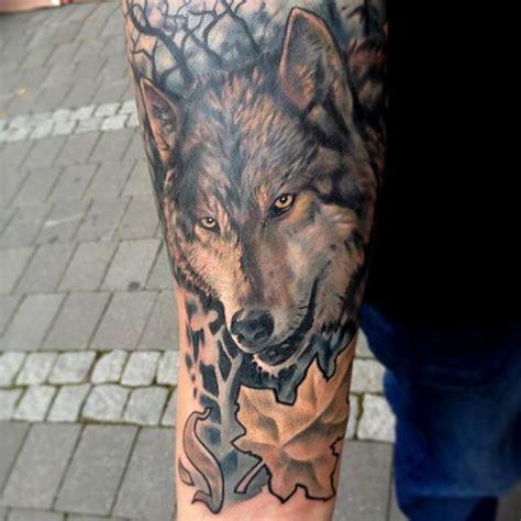 un tatouage de loup 13 inkage