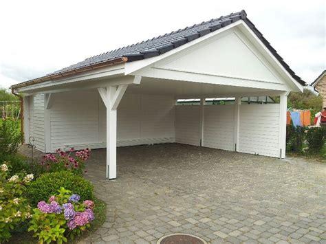 Holz Carport Garage by Doppel Carport Mit Satteldach Holz Garage Hergestellt