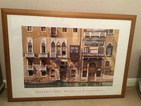 large framed picture print jonathan pike balconies