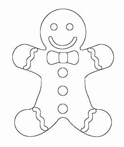 Free Christmas Coloring Pages Gingerbread Man
