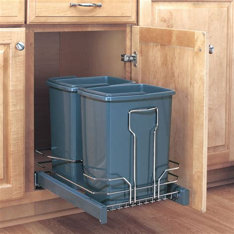 pull out trash cabinet trash cans free standing built in under cabinet pull