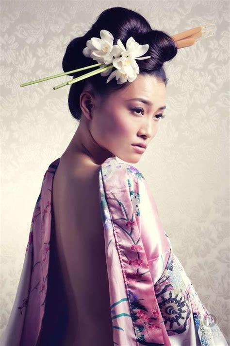 ideas  geisha hair  pinterest geisha