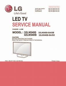 Lg 32ln5400  32ln540 Chassis Lj36b  Service Manual  Repair