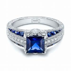 Sapphire And Diamond Engagement Rings Wedding Promise
