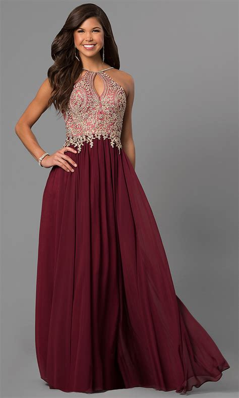 burgundy color prom dress lace applique bodice black prom dress promgirl