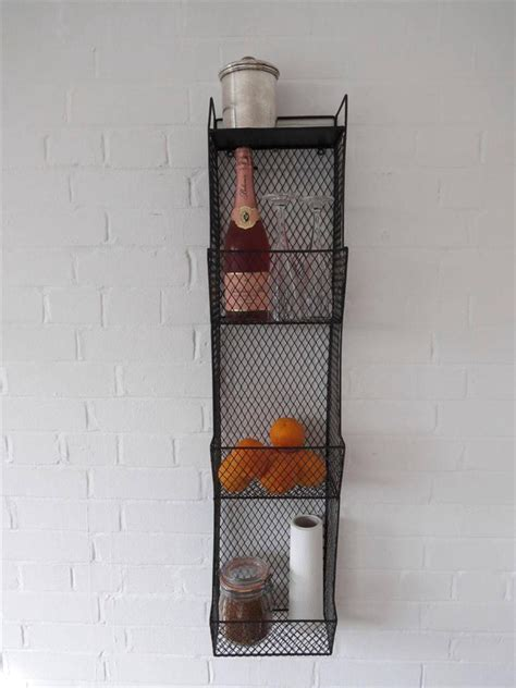 metal wall shelf kitchen metal wall wire rack storage shelf black