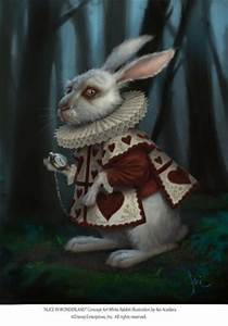 627x900 1669 White Rabbit 2d illustration alice in ...