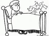 Bed Coloring Sheet Cartoon Popular Library Clipart Coloringhome sketch template