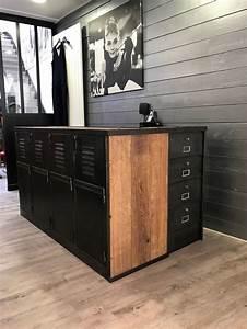 Bar Style Industriel : comptoirs agencement de magasin au style industriel ~ Teatrodelosmanantiales.com Idées de Décoration