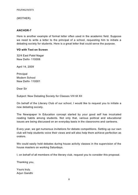 formal letter  principal budget template