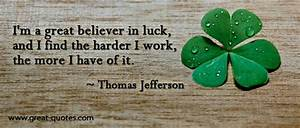 I'm a great... Find Luck Quotes
