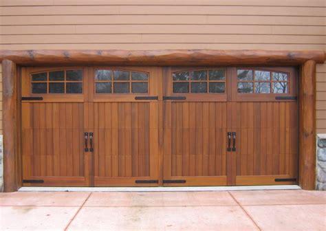 wood garage doors three kinds of wooden garage doors gosiadesign