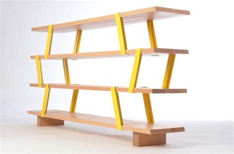 metal wood bookshelf 39 méo 39 shelf furniture design by olivier desrochers