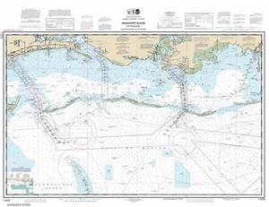 South Florida Nautical Charts 11373 Mississippi Sound And Approaches Dauphin Island