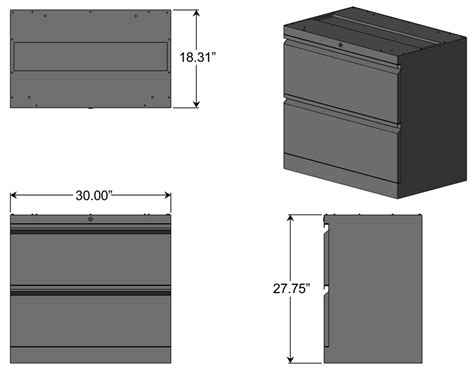 File Cabinet Sizes by Lateral File Cabinet For L Shaped Desks Caretta Workspace