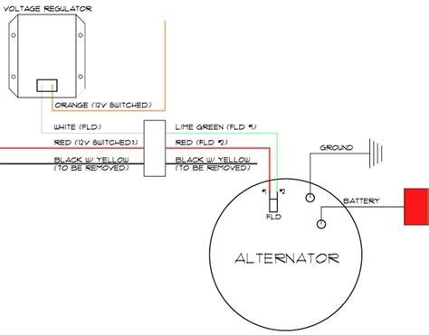 delco  wire alternator wiring diagram  wiring diagram