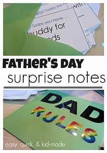 quick, easy father's day surprise notes: kid-made and dad ...
