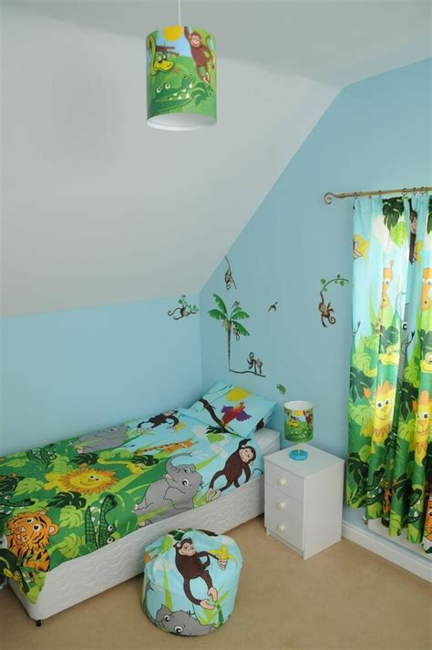 jungle safari bedroom range bedding curtains lamp light