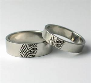 fingerprint wedding rings With wedding ring with fingerprint