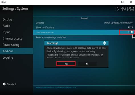 how to setup vpn on openelec kodi