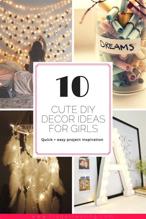 diy girls room decor project inspiration frugal nesting